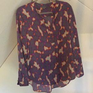 "Lilla P  ""animal print"" blouse - size Large"